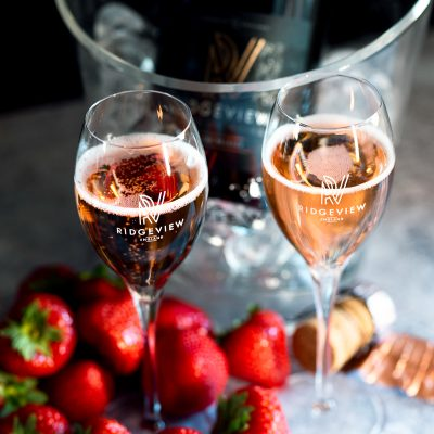 Rosé with strawberries
